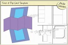 pop and twist card template twist pop card cu template graphic by arda designs