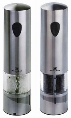 elektrischer salz und pfefferstreuer peugeot elis stainless steel electric salt and pepper mill