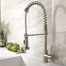 Restaurant Style Kitchen Faucet Commercial Swivel Pull Spray Sink Faucet Kitchen