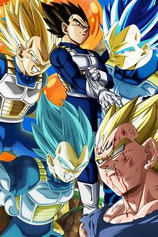 dragon ball z super poster vegeta five different forms 12inx18in free shipping ebay