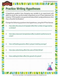 practice writing hypotheses hypothesis in the scientific method scientific method science