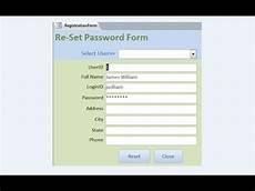 create reset password form youtube