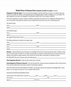medical power of attorney form free 35 power of attorney forms in pdf