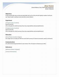 professional downloadable word document resume templates in 2020 simple resume template