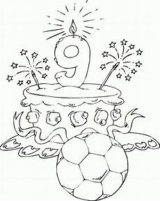Malvorlagen Age Cake Birthday Cake Age 9 Coloring Page Coloring Met