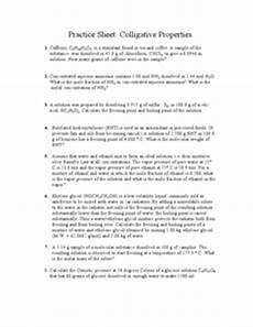 practice sheet colligative properties worksheet for 10th higher ed lesson planet