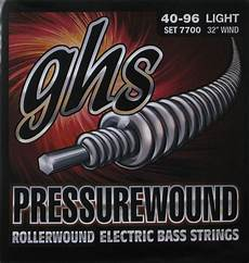 Ghs Electric Bass 4 String Pressurewound 30 Quot 31 Quot Scale