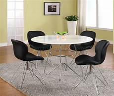 fresh white based dining white top chrome base modern dining table w optional chairs