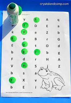 Preschool Letter Worksheets F Is For Frog Preschool