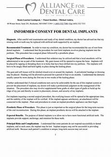 top dental implant consent form templates free to download in pdf format