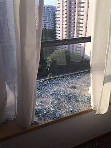 Bathroom Glass Door Shattered by Find Out Why A Window At This Condo Spontaneously