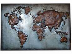 abstract metal world map world wall hanging