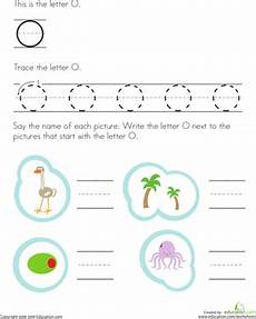 trace and write the letter o worksheet education com