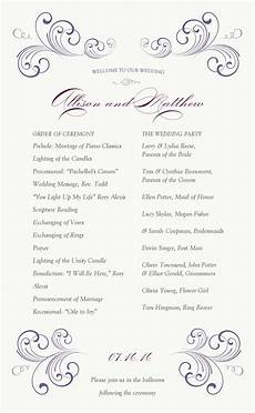 showing gallery for one page wedding program templates mi boda wedding programs wedding