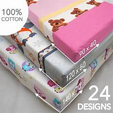 baby nursery cotton fitted sheet all sizes crib cot bed matching bedding pattern ebay