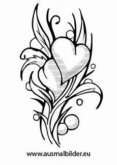 Malvorlage Herz Mit Blumen Herz Mit Blumen Ausmalbild