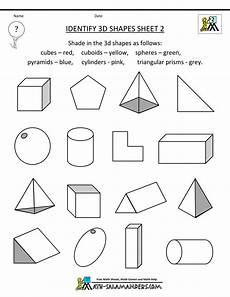 sorting 3d shapes worksheets 7889 second grade geometry