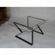 table basse metal verre table basse en verre et m 233 tal par clf creation