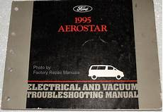 electric and cars manual 1993 ford aerostar parental controls 1995 ford aerostar electrical vacuum troubleshooting manual factory repair manuals