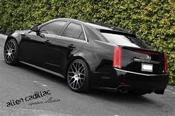 Matte Black And Carbon Fiber Cadillac CTS