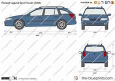Renault Laguna Sport Tourer Vector Drawing