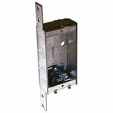 raco 1 gang gray metal interior new work shallow switch outlet ceiling wall electrical box at