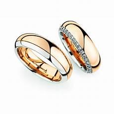 rose gold platinum wedding ring pair christian bauer