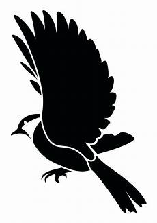 flying bird silhouette stencils at getdrawings free