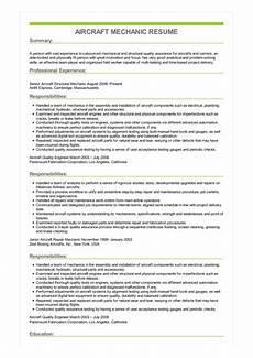 resume for aircraft maintenance technician