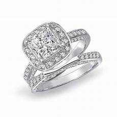2019 popular silver princess cut diamond engagement rings