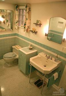 Gorgeous Blue Tile Bathroom Vintage Style From Scratch