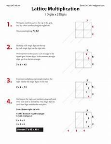 lattice method for multiply math teaching resources