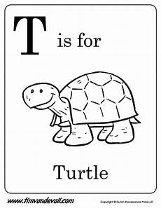 T Is For Thanksgiving Coloring Pages T Is For Turtle Printable Tim S Printables