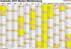 Faschingsferien Baden Württemberg 2017 - kalender 2017 baden w 252 rttemberg ferien feiertage word