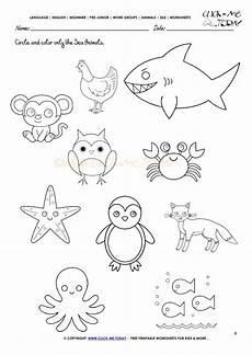 sea animals worksheets for preschoolers 14123 creature humrajali