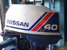used 1986 nissan ns40cep2 40hp 2 stroke remote outboard boat motor 20 quot shaft ebay
