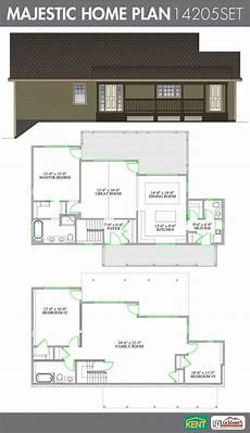 open concept bungalow house plans canada majestic 3 bedroom 2 1 2 bathroom home plan features