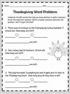2nd grade math addition word problems worksheet thanksgiving math word problems 2nd grade by tpt