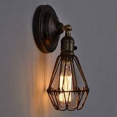 rustic wall l industrial sconce loft light fixtures vintage home lighting decor led bulb cage