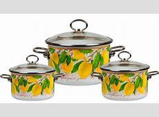"""""""Limon"""" Enamelware pot''Vitros'' volume: 1,5L, 2L. 4L"""