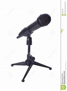 wireless microphone stands black wireless mic on stand royalty free stock photos image 23449478
