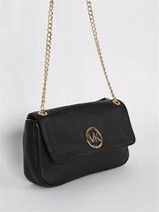 michael kors fulton flap black leather shoulder bag