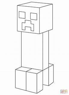 minecraft creeper coloring pages printable coloringpages2019