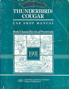 car repair manuals download 1991 ford thunderbird on board diagnostic system shop manual service repair 1991 ford thunderbird cougar book ebay