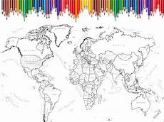 world map coloring page printable world map scrapbook size