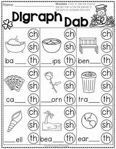st patrick s day math and literacy no prep freebie digraphs worksheets phonics worksheets