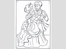 der Prinz und Aschenputtel   Ausmalbilder Asschenputtel