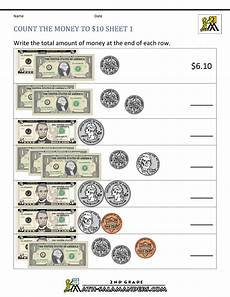 money printable worksheets 3rd grade 2692 count the money to 10 dollar homeschool 2nd grade
