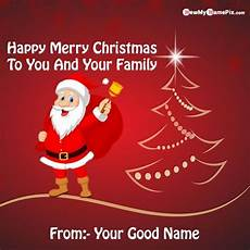 write name merry christmas wishes greeting card pictures create free in 2020 merry