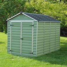 mercia 10 6 green apex plastic shed